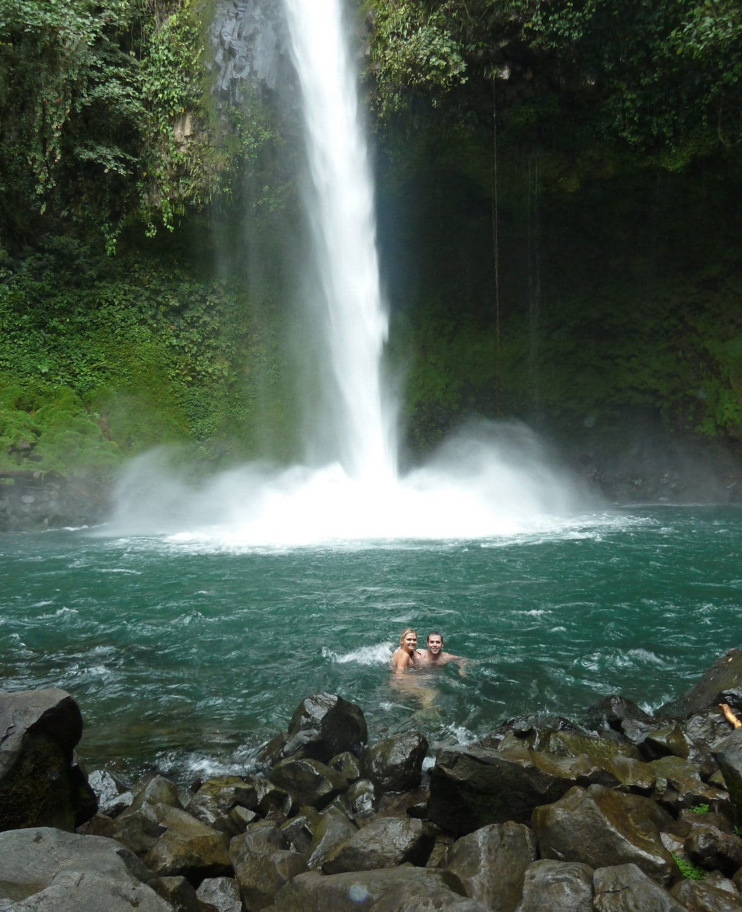 Lindsay And Dan Swimming At La Fortuna Waterfall Follow Your Detour