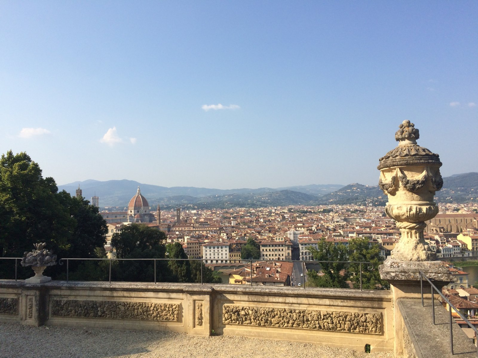 view from bardini gardens