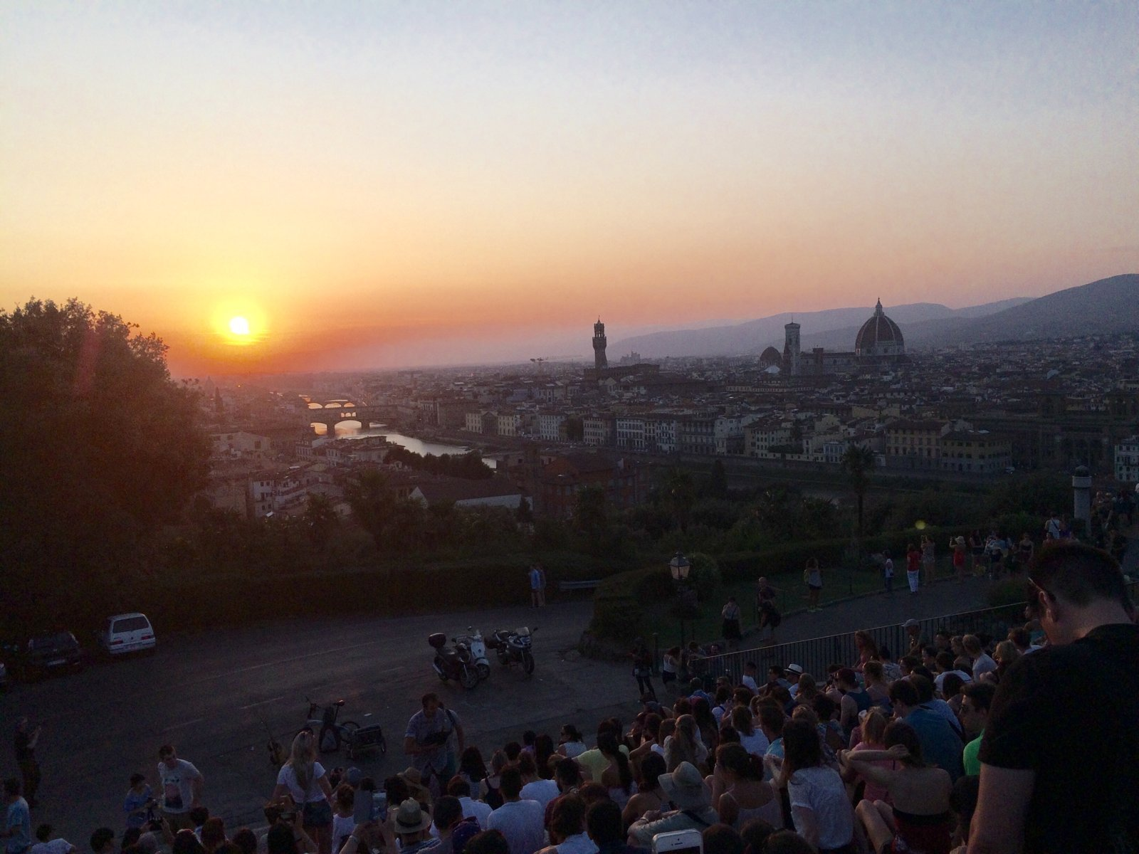 Sunset at Piazzale Michealangelo