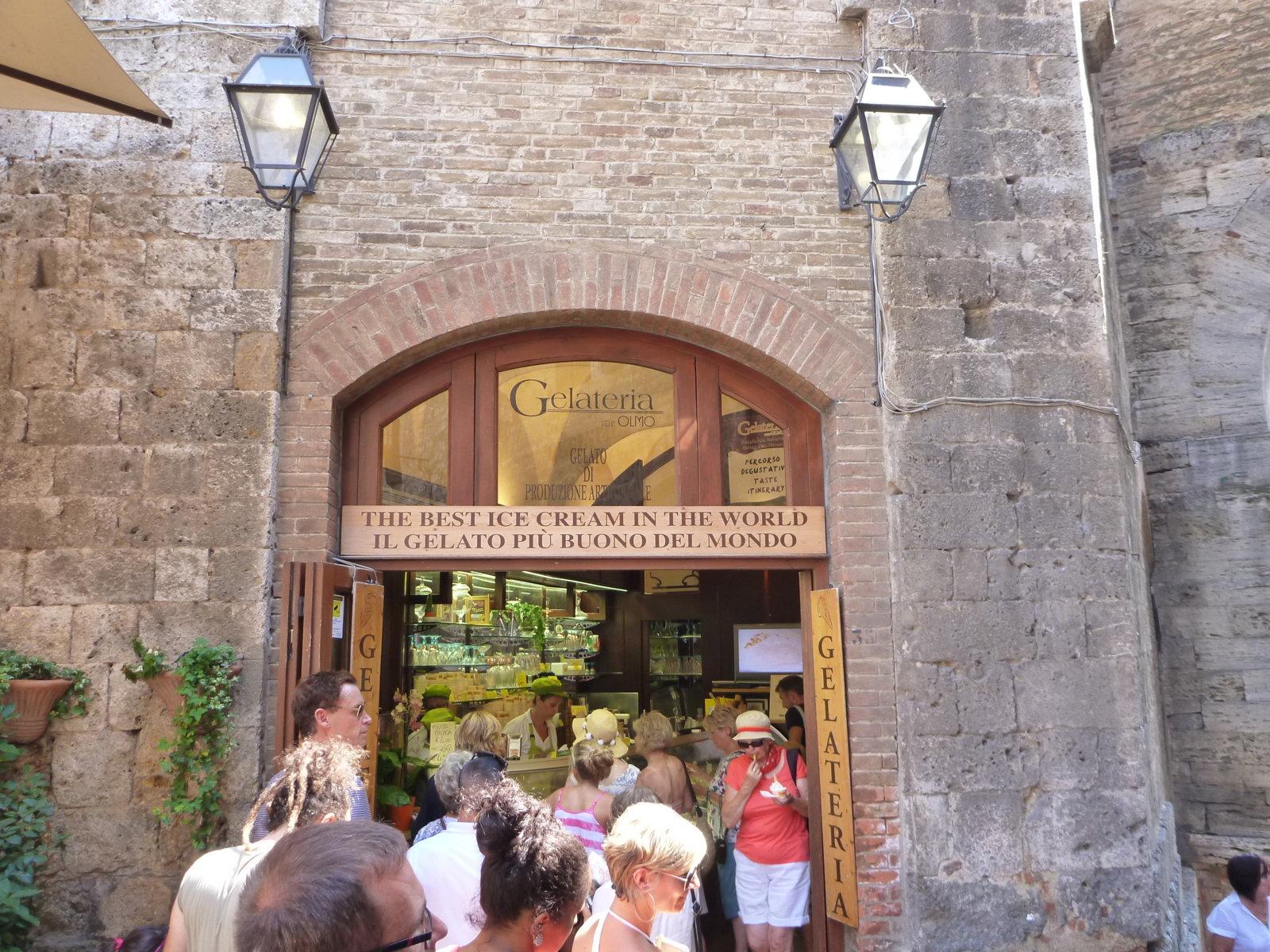 San Gimignano Worlds best Gelato
