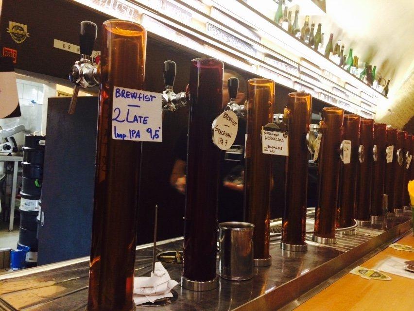 great beer in trastevere rome at bir and fud