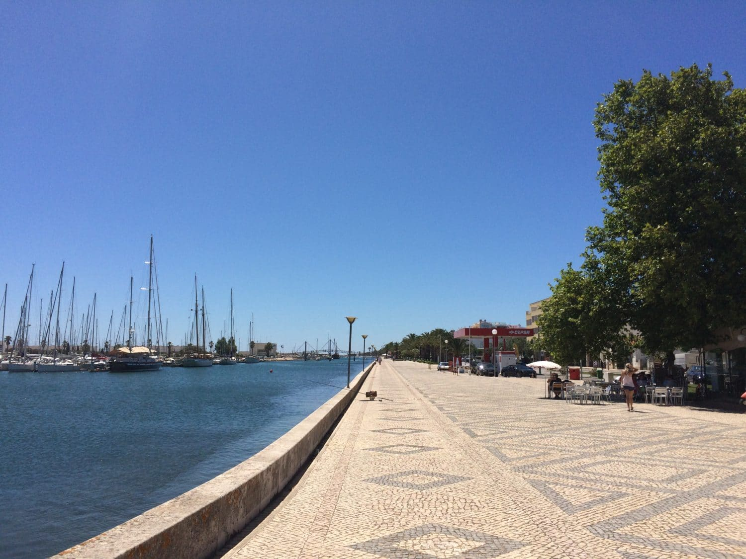 The harbor of lagos portugal