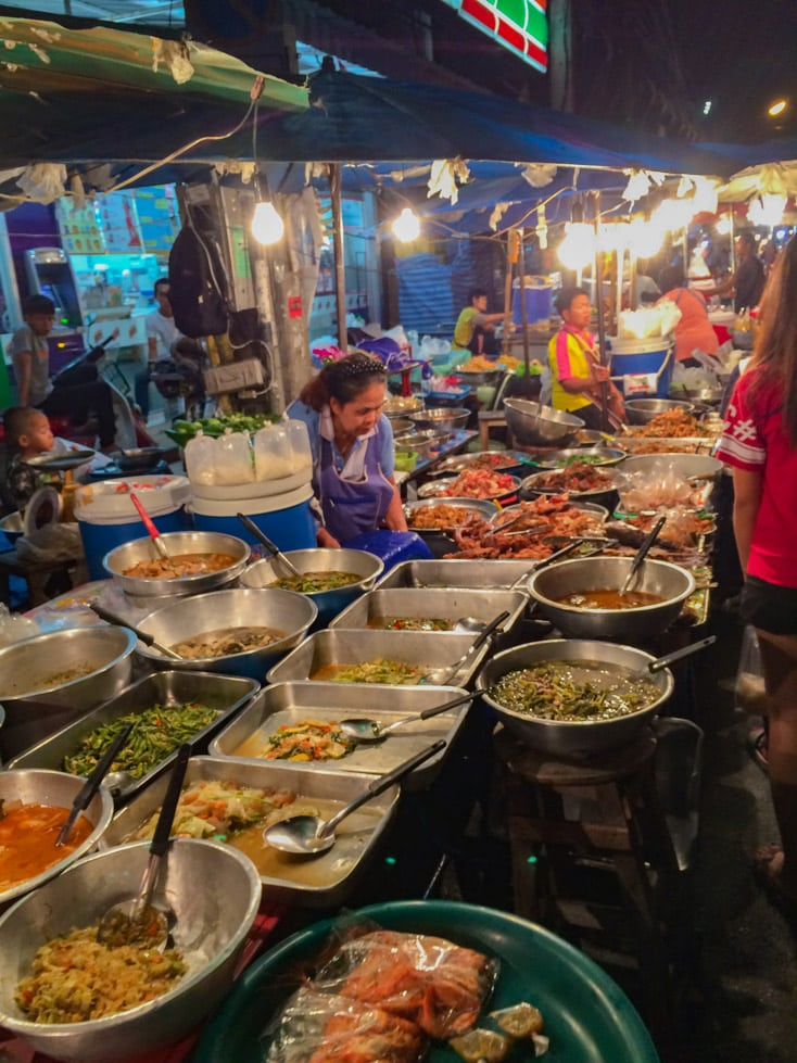 Chiang Mai Gate (South) and Chang Pheuak Gate (North Gate) Food Stalls