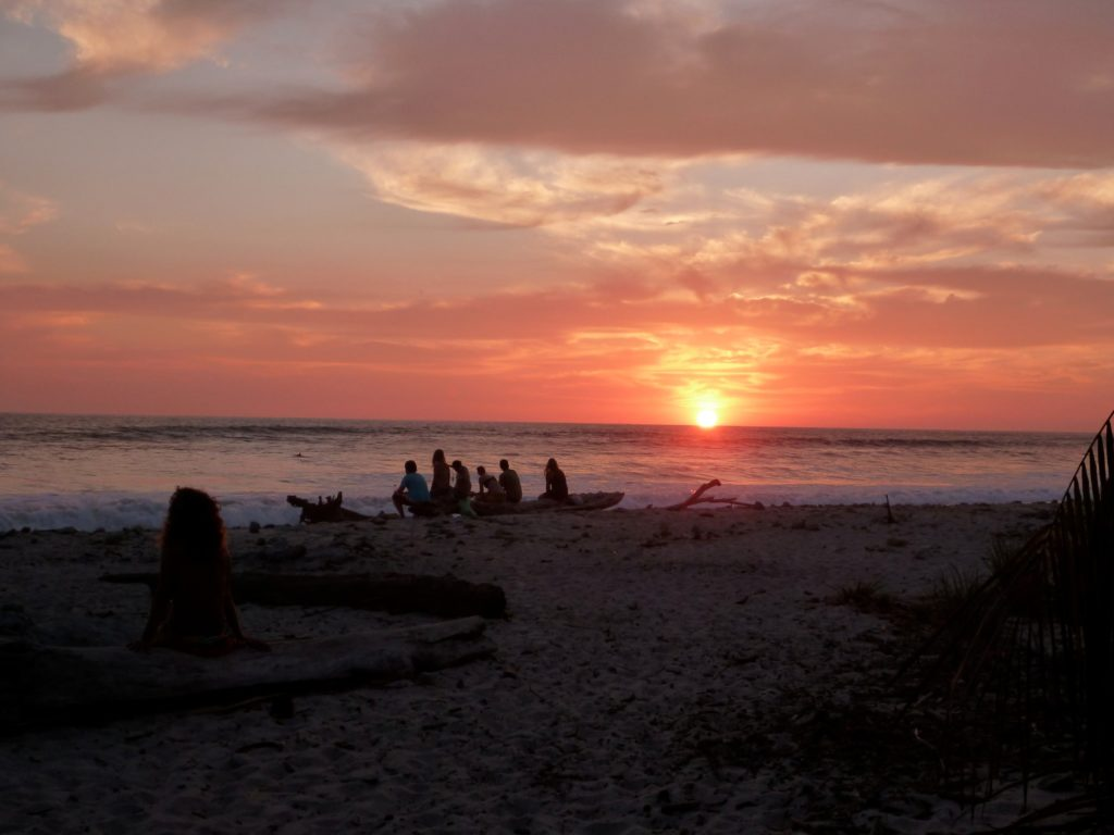A seat to watch the sunset in Santa Teresa