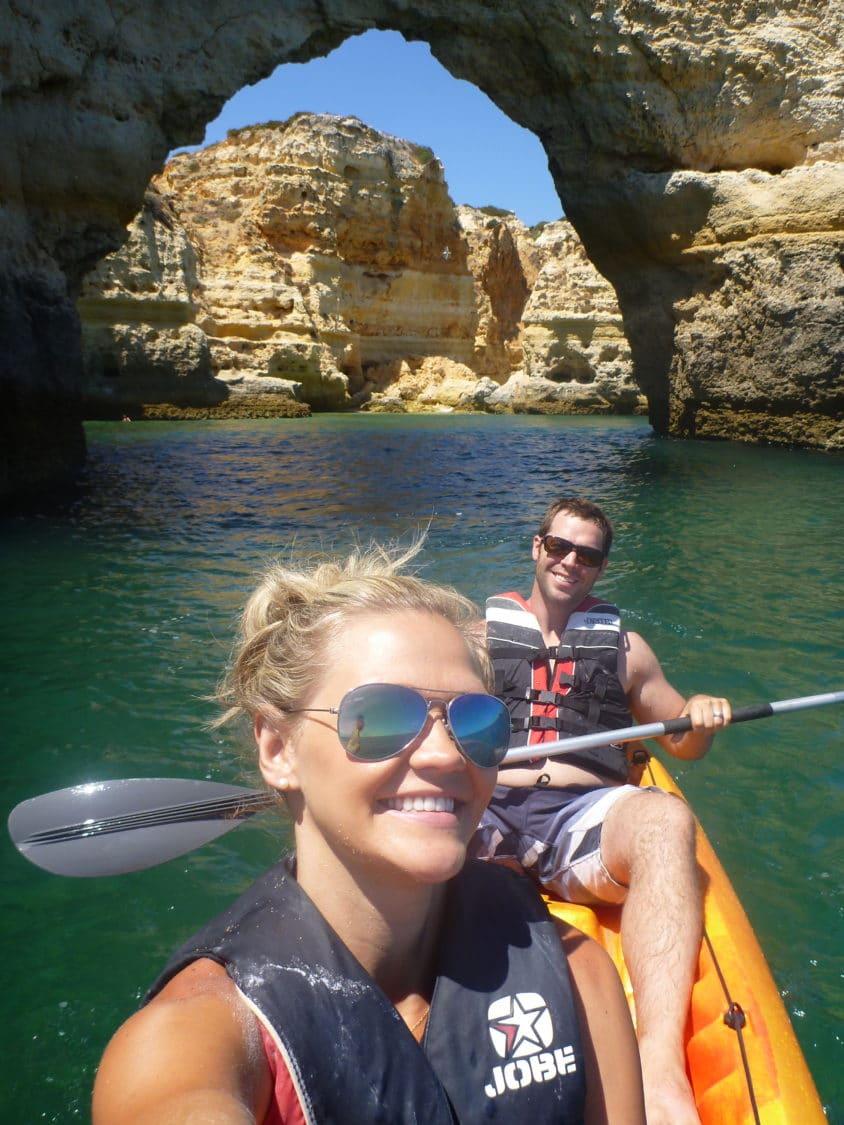 Benagil beach kayaks