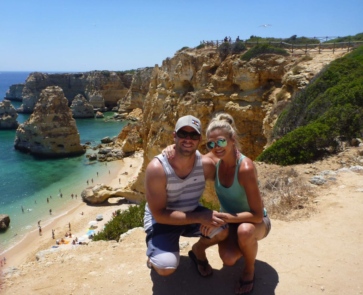 Lindsay and Dan at Praia Marinha