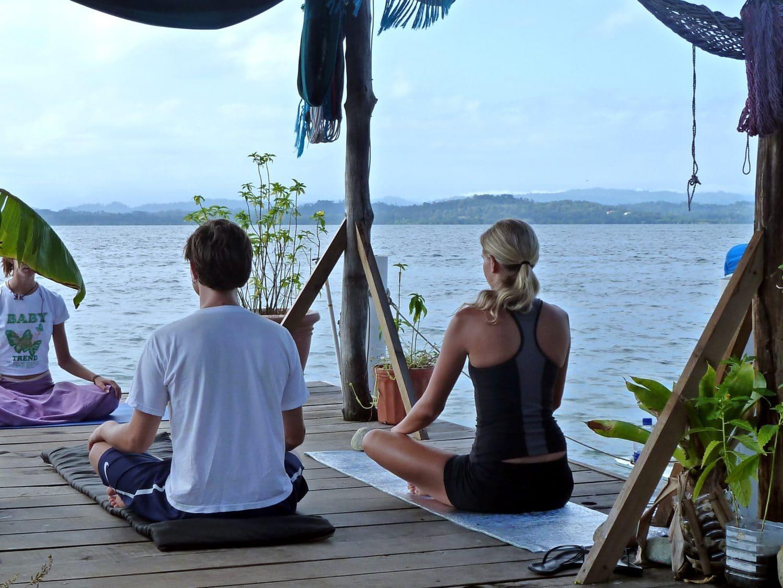 yoga on the dock, bocas del toro