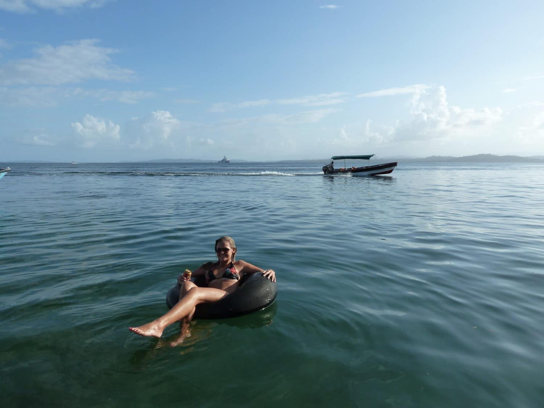lindsay relaxing in Bocas del Toro