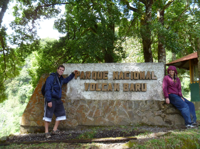 at the entry to parque nacional baru