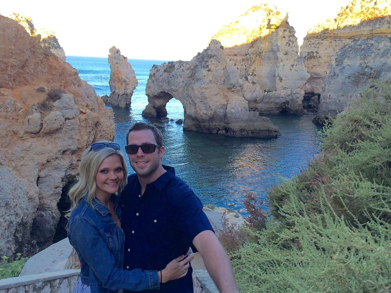 Lindsay and Dan at Ponta da Piedade, Lagos, Portugal