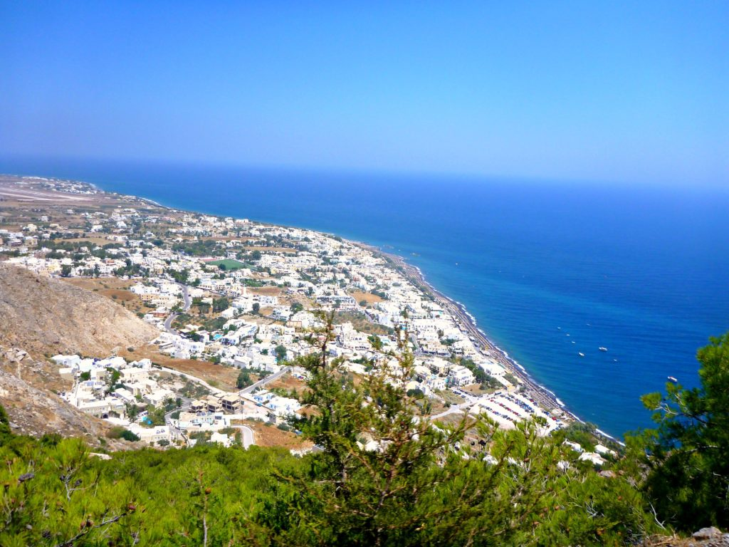 The view from the top of Ancient Thira