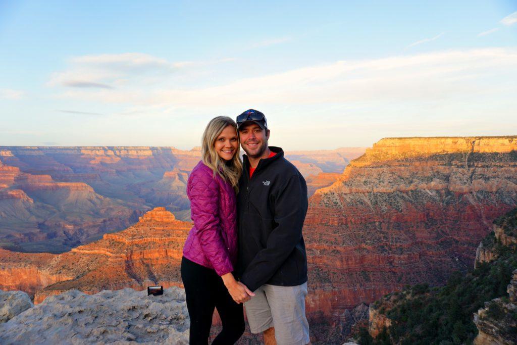 sunset at the Grand Canyon arizona