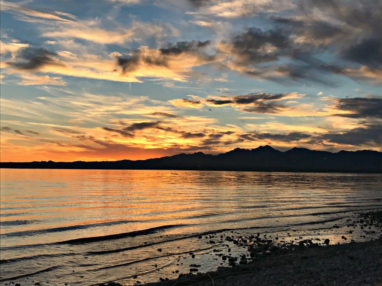 beautiful sunset at lake havasu arizona