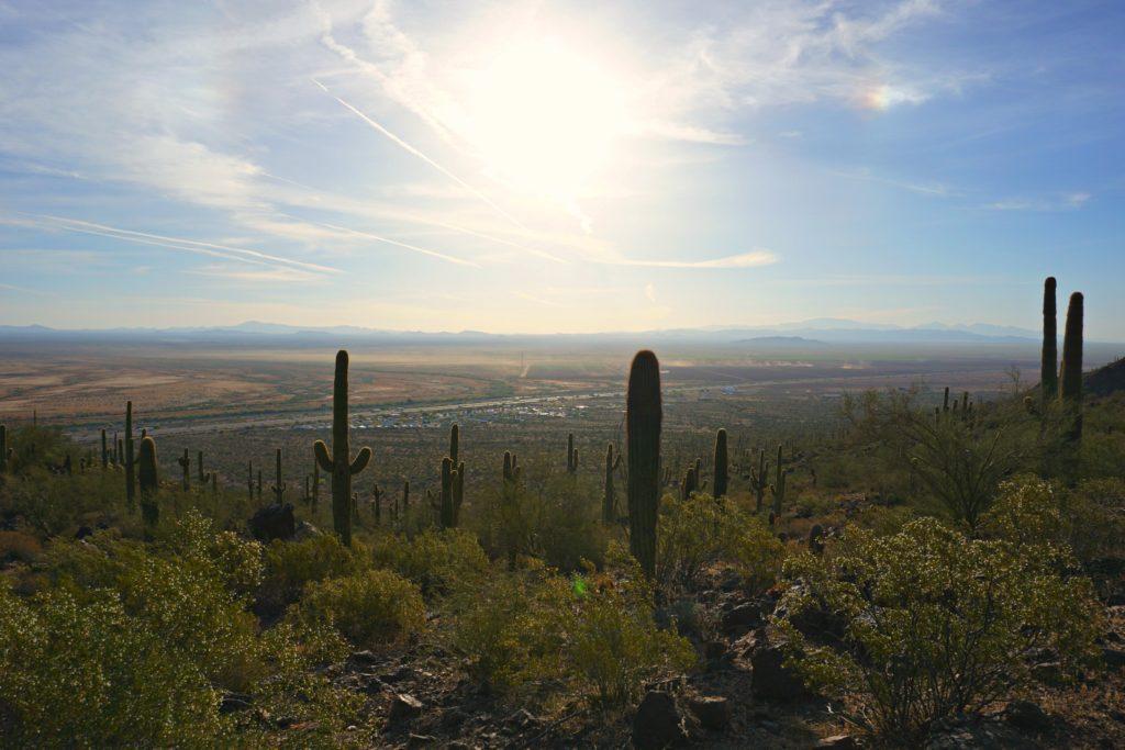 Calloway Trail hike Sunrise Picacho Peak State Park Arizona