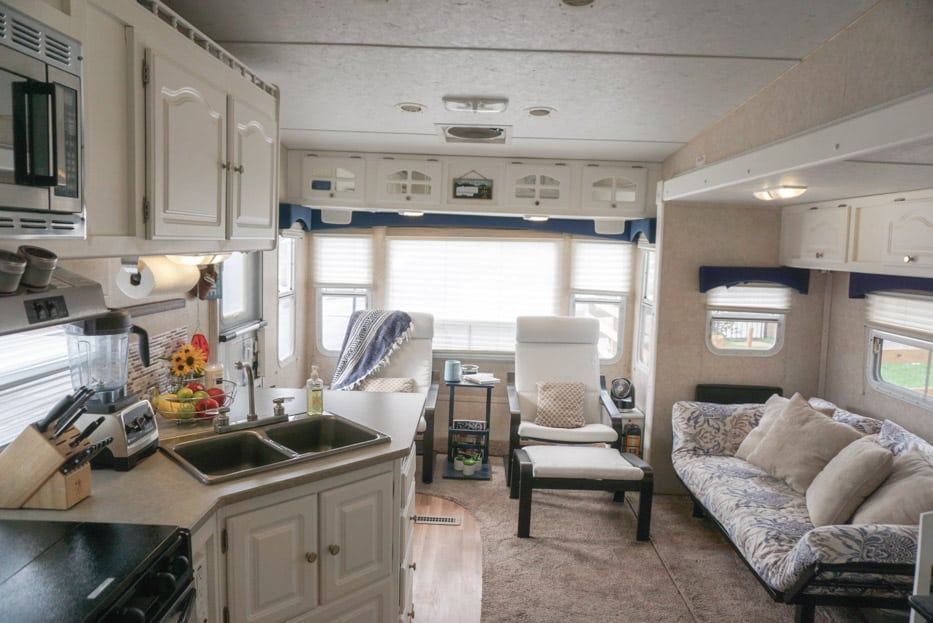 Rv Fifth Wheel Camper Remodel Furniture