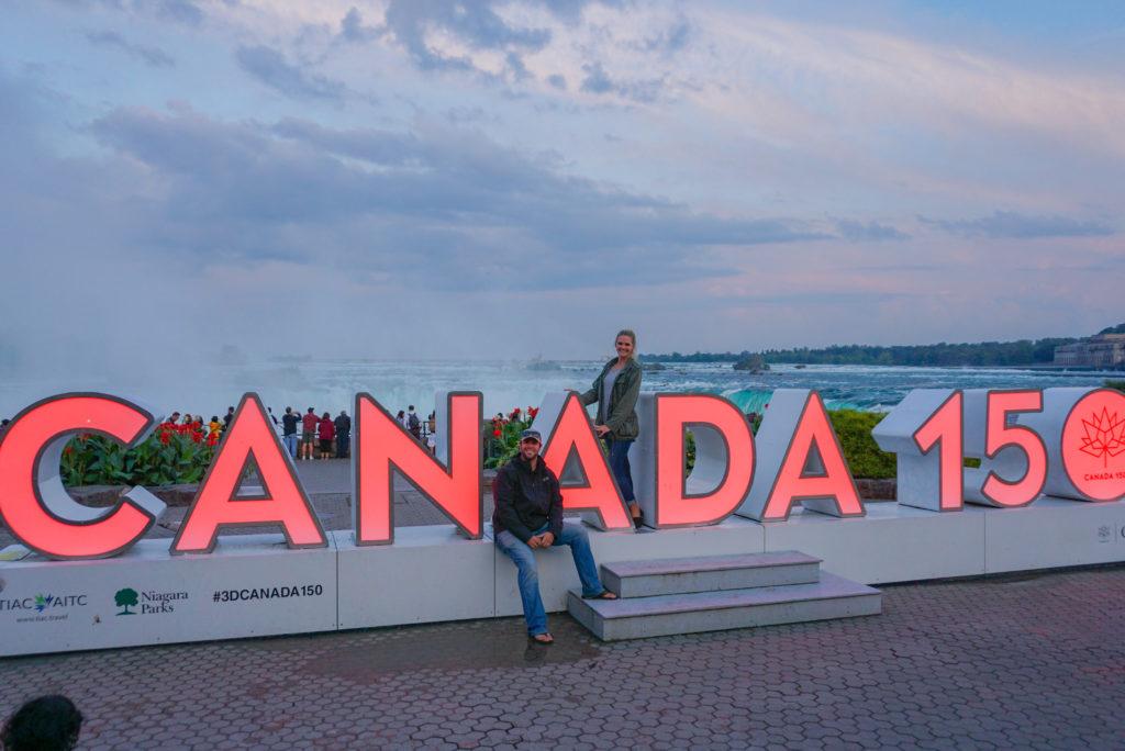 Canada Sign Niagara Falls Ontario