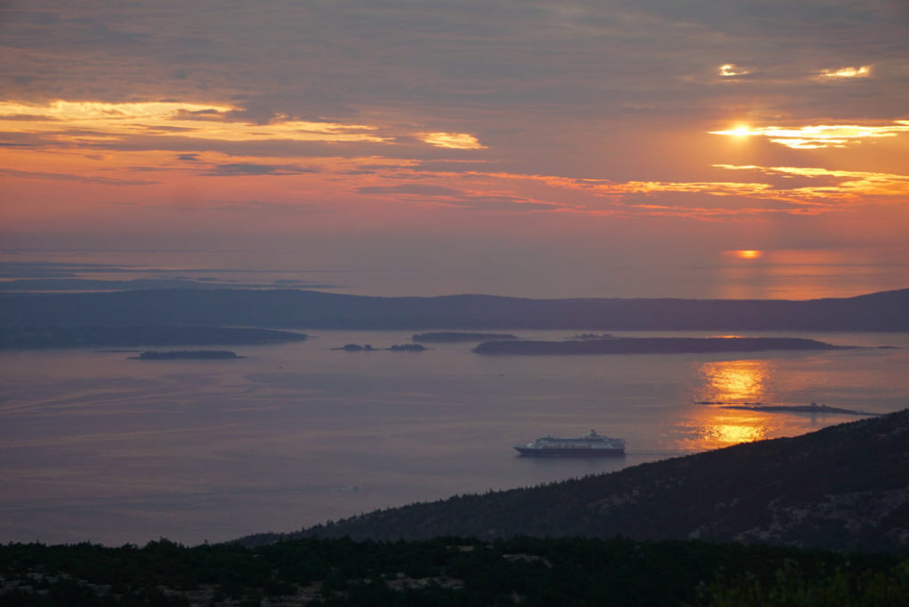 Cadillac Mountain sunrise Acadia National Park Bar Harbor Maine