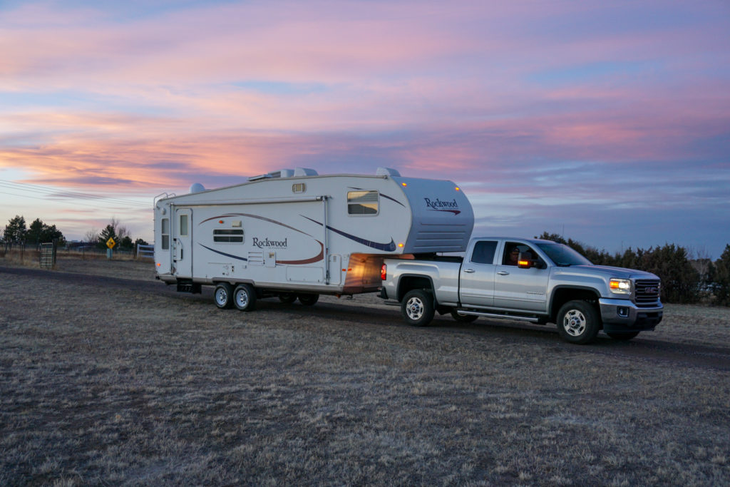 full-time RVing fifth wheel