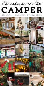 Living in an #RV simplifies life in many ways. But, that doesn't mean you can't still enjoy the same things you did while living in a house. In fact, it helps your RV feel more like #home when you continue #traditions, especially during the holidays. It is so much fun decorating an RV for #Christmas and just a few small touches can completely transform the #smallspace into a winter wonderland. #RVliving #RVdecor #fulltimeRV #TinyHome