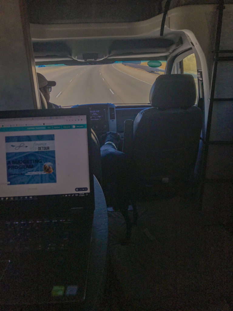 working on the road