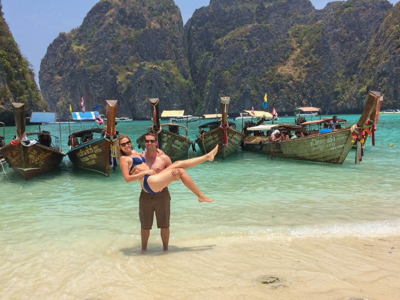 thailand ko phi phi islands beach couple