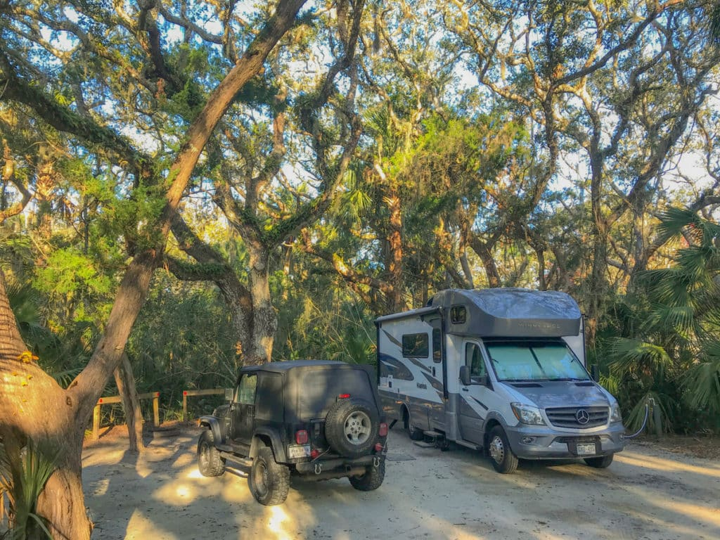 Florida State Beach RV Camping 1 Of 2