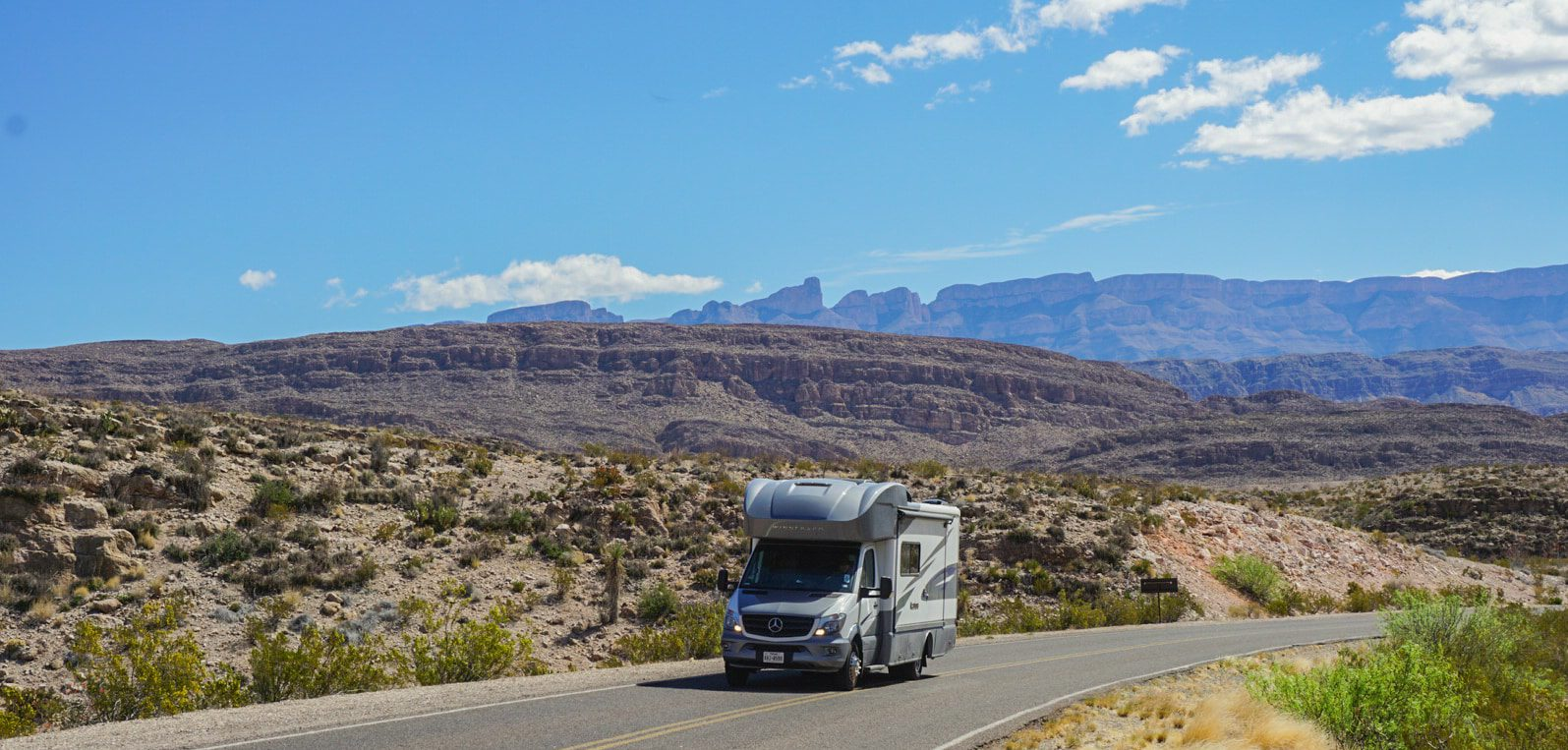 rv driving through big bend national park  1 of 1
