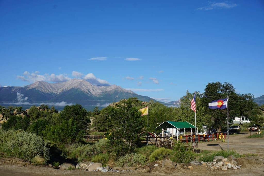 KOA campground in Buena Vista Colorado with mountain views