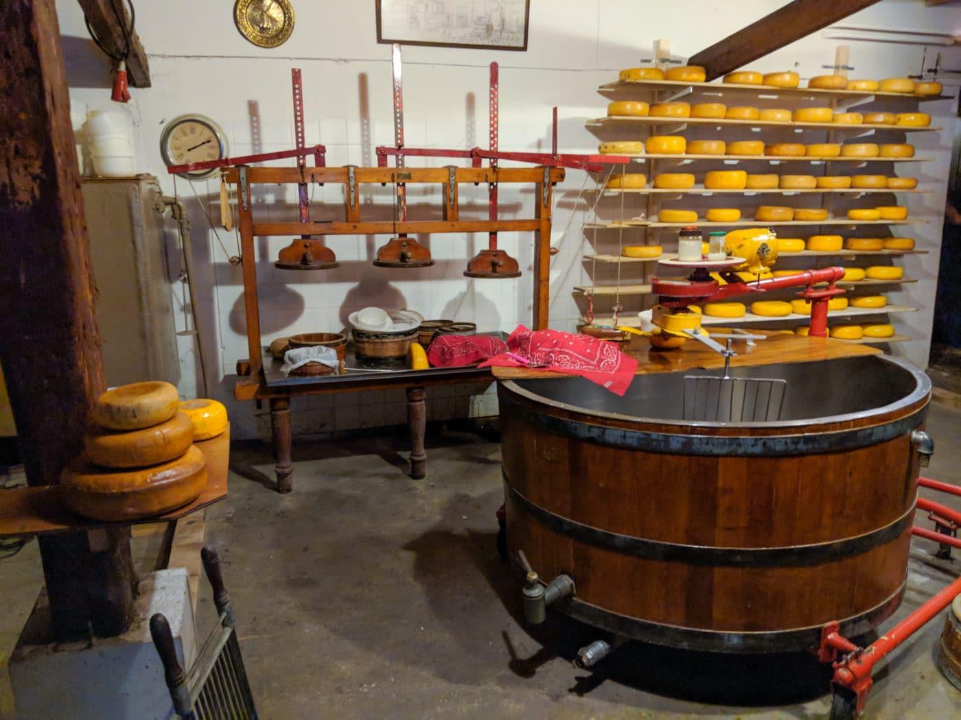 Amsterdam Cheese shop at farm