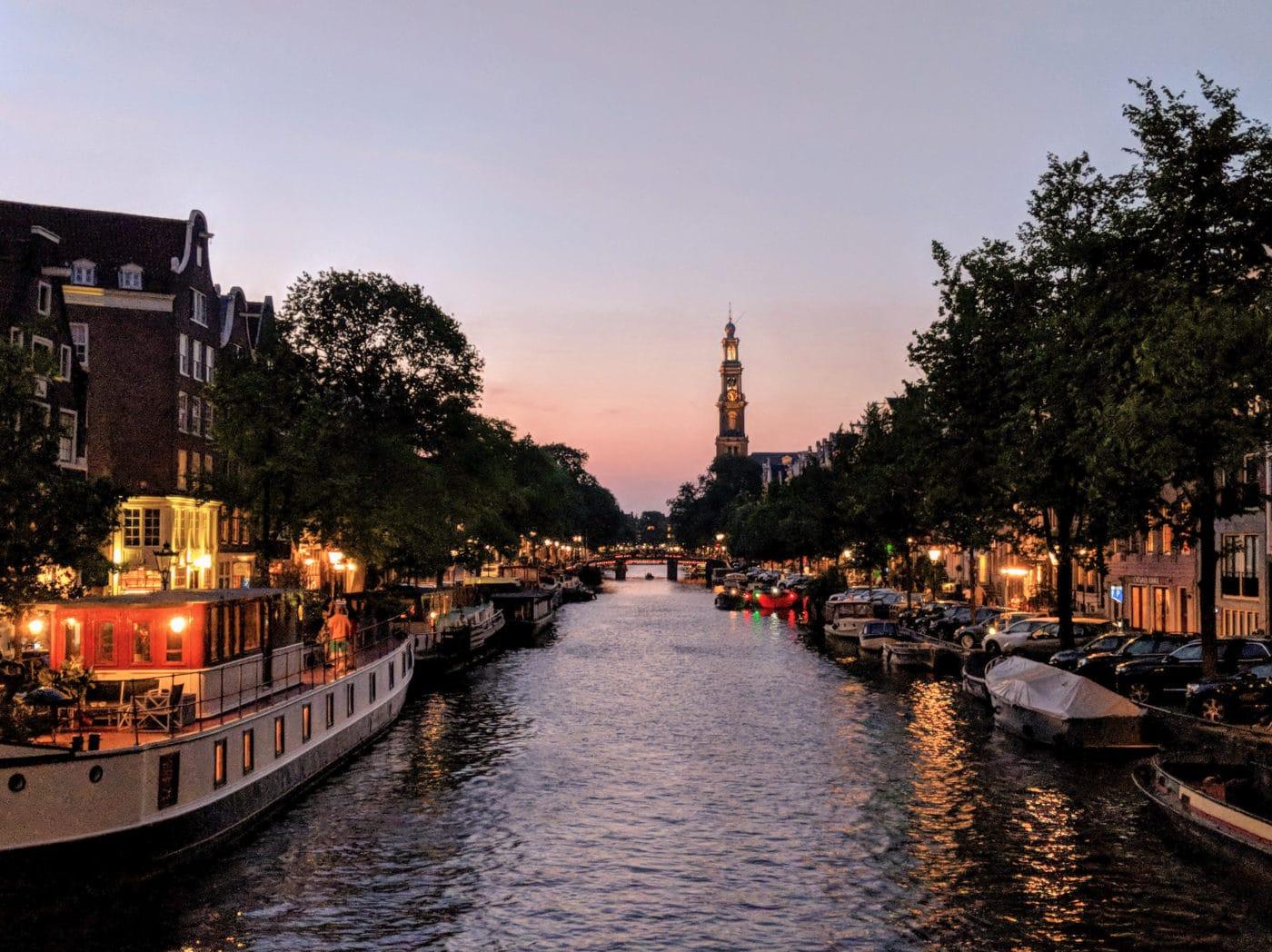 Beautiful Amsterdam at dusk