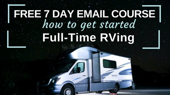 RV under night skies how to get started full-time RVing