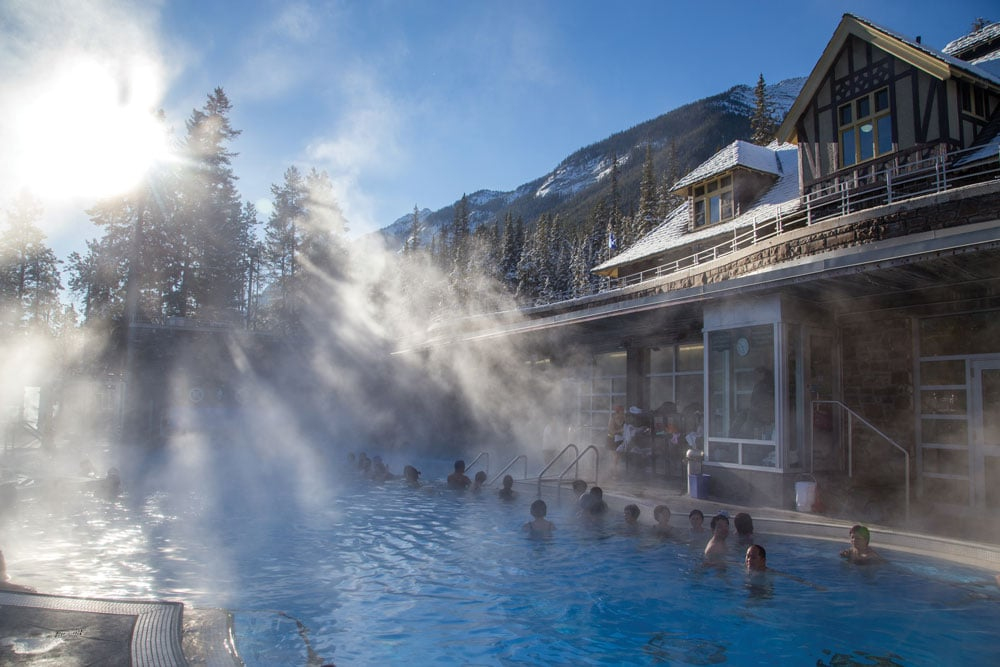 Hot springs in Banff Alberta Canada