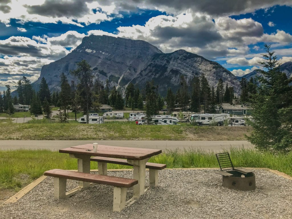 Tunnel Mountain Campground in Banff National park alberta Canada