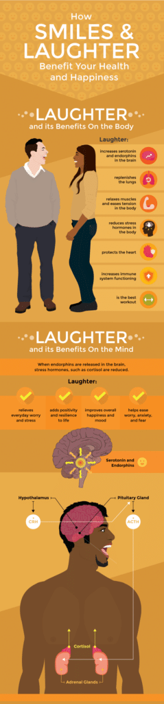 benefits of smiling and laughing