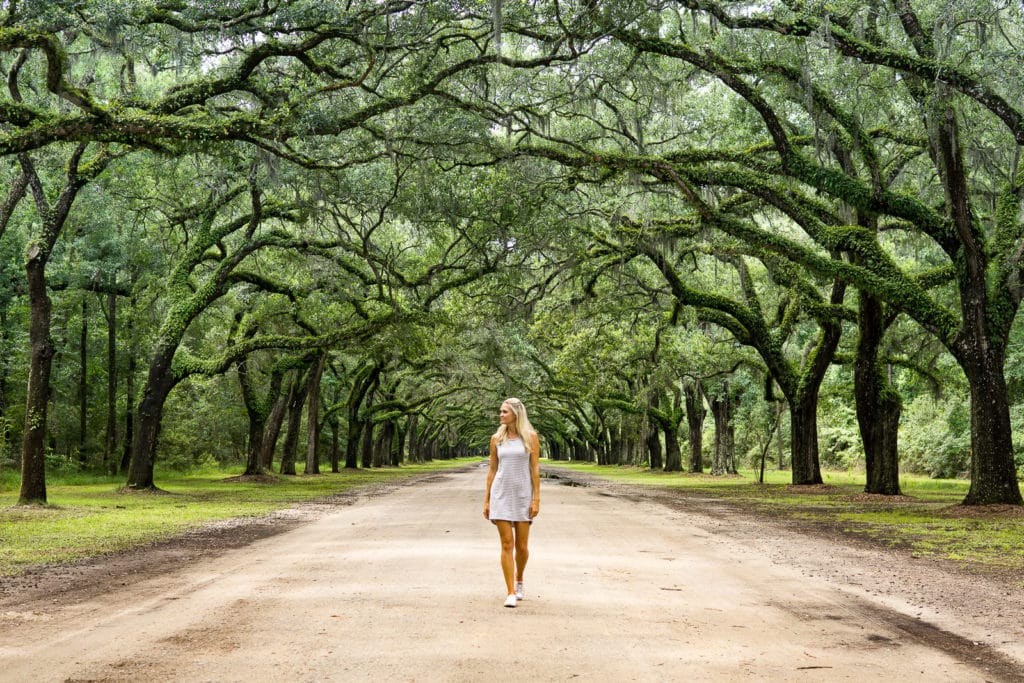 Lindsay visiting wormsloe site