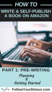 how to write and self-publish a book on amazon part 1 pre-writing planning and getting started