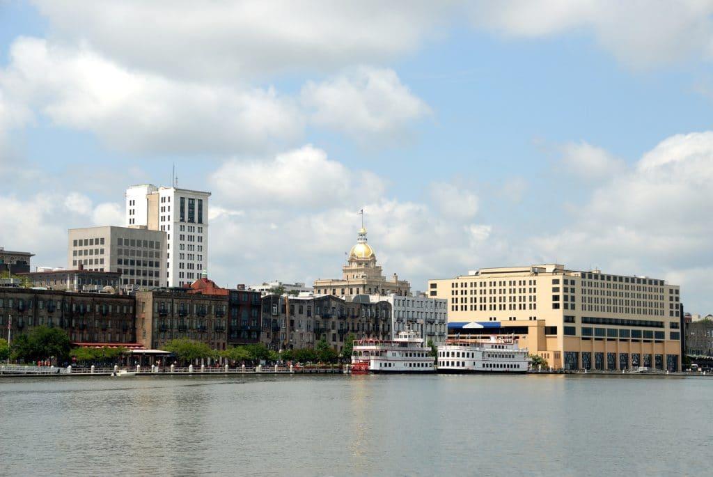 view of river street savannah