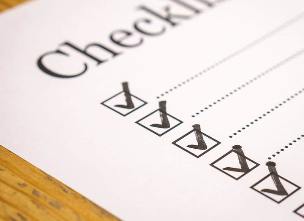 make an rv checklist before traveling for safety