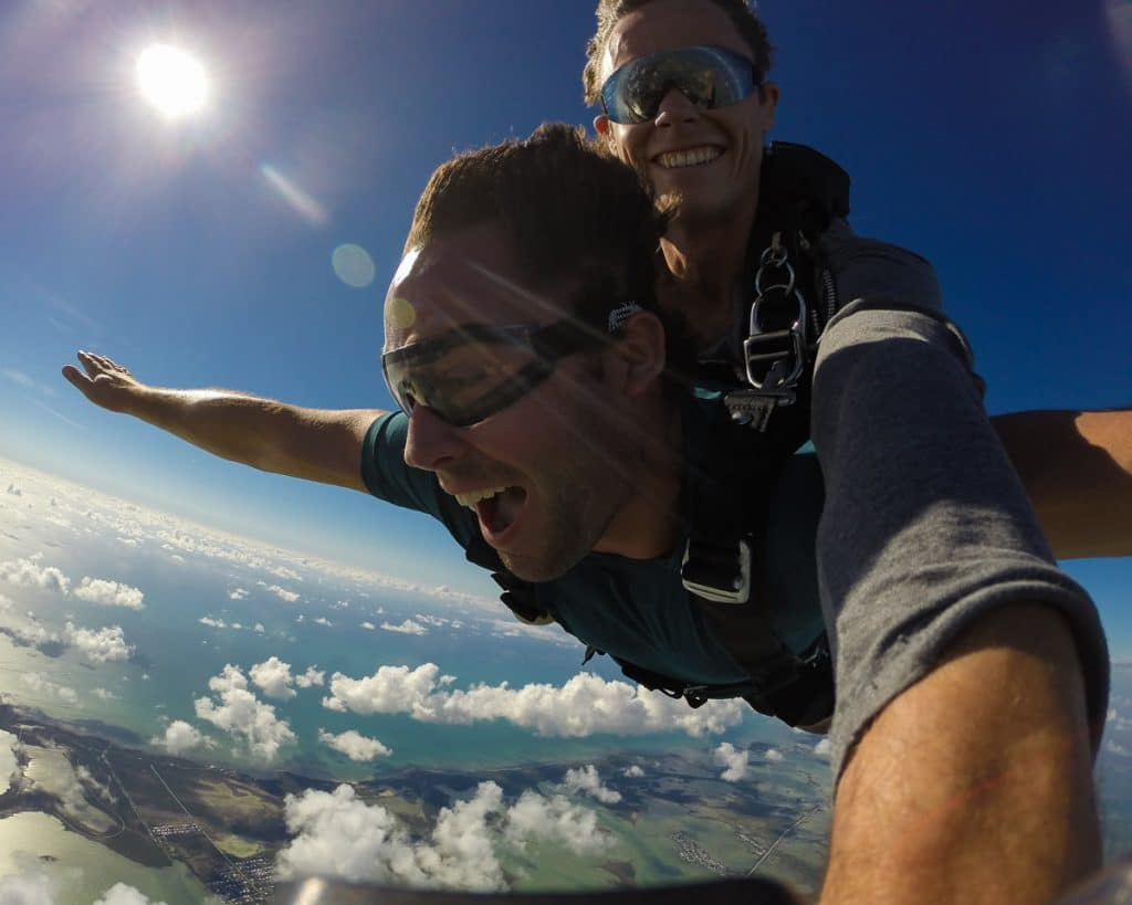 dan skydiving in florida keys