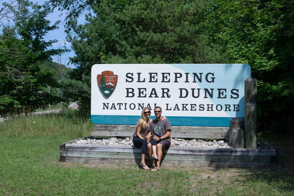 dan and lindsay at sleeping bear