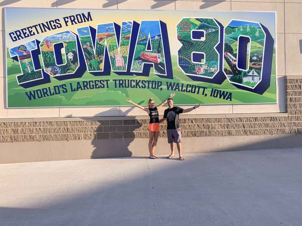 Walcott Iowa Truck Stop mural