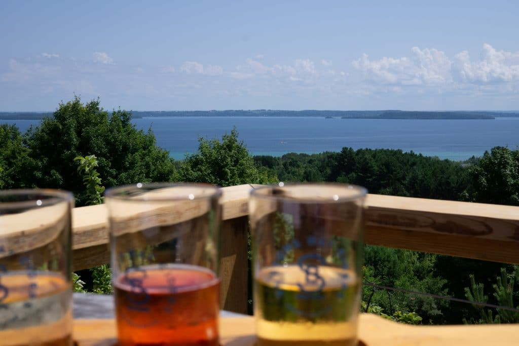 cider with a view in suttons bay mi