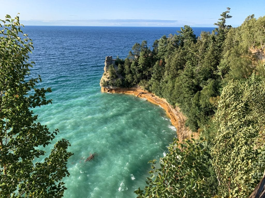 Miners Castle, Michigan from the overlook