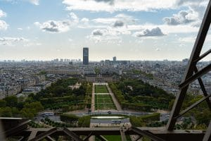 view of champ de mars from the eiffel tower