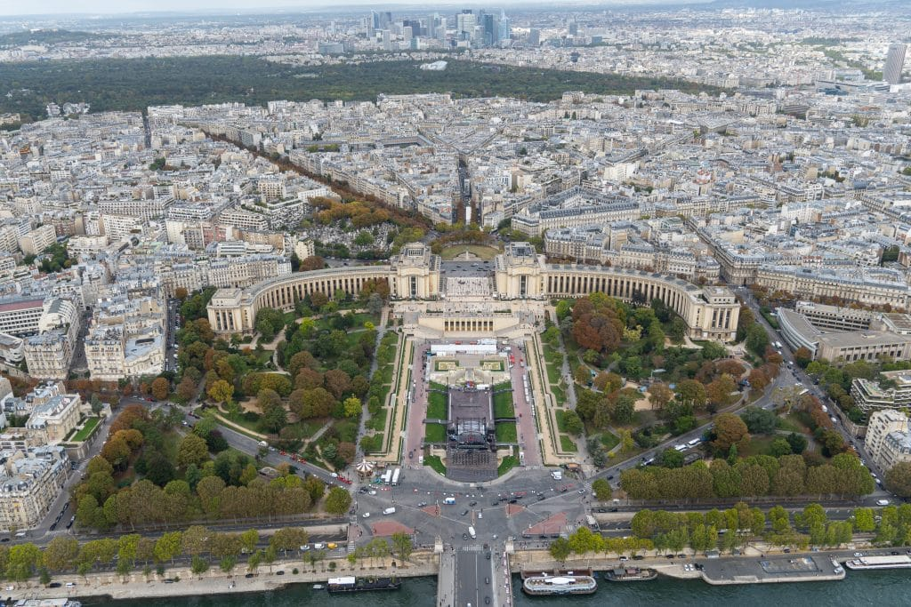 views from atop the eiffel tower