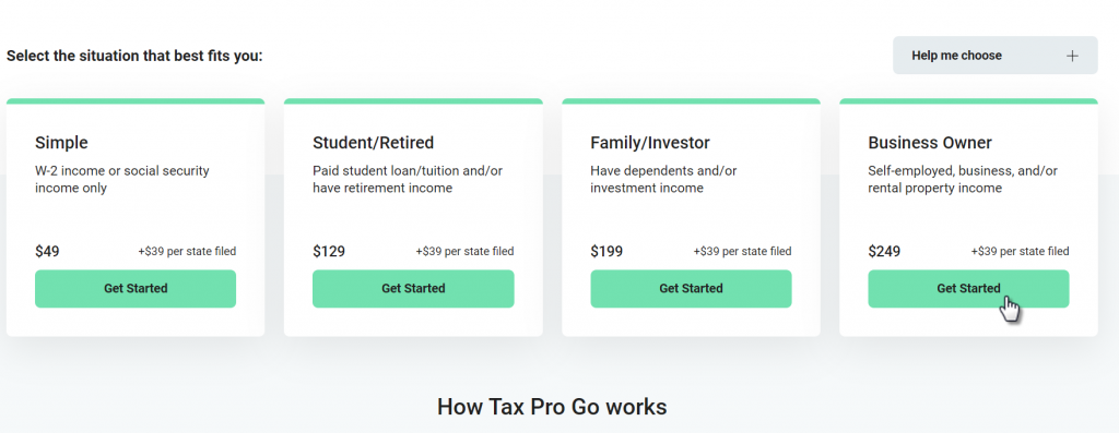HR Block Tax Pro Go Signup
