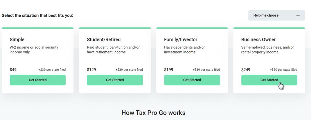 HR Block Tax Pro Go Signup
