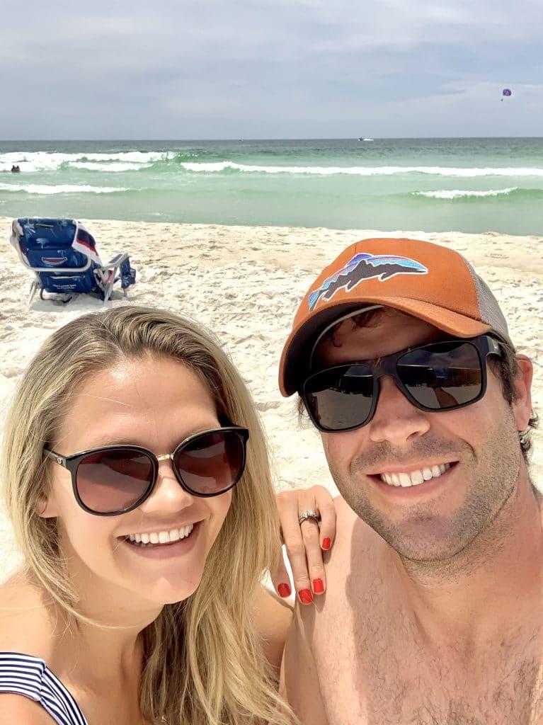 Couples selfie on the beach