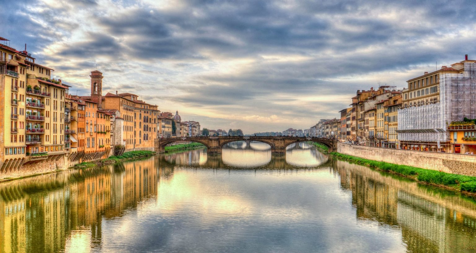 Florence Arno River Reflection