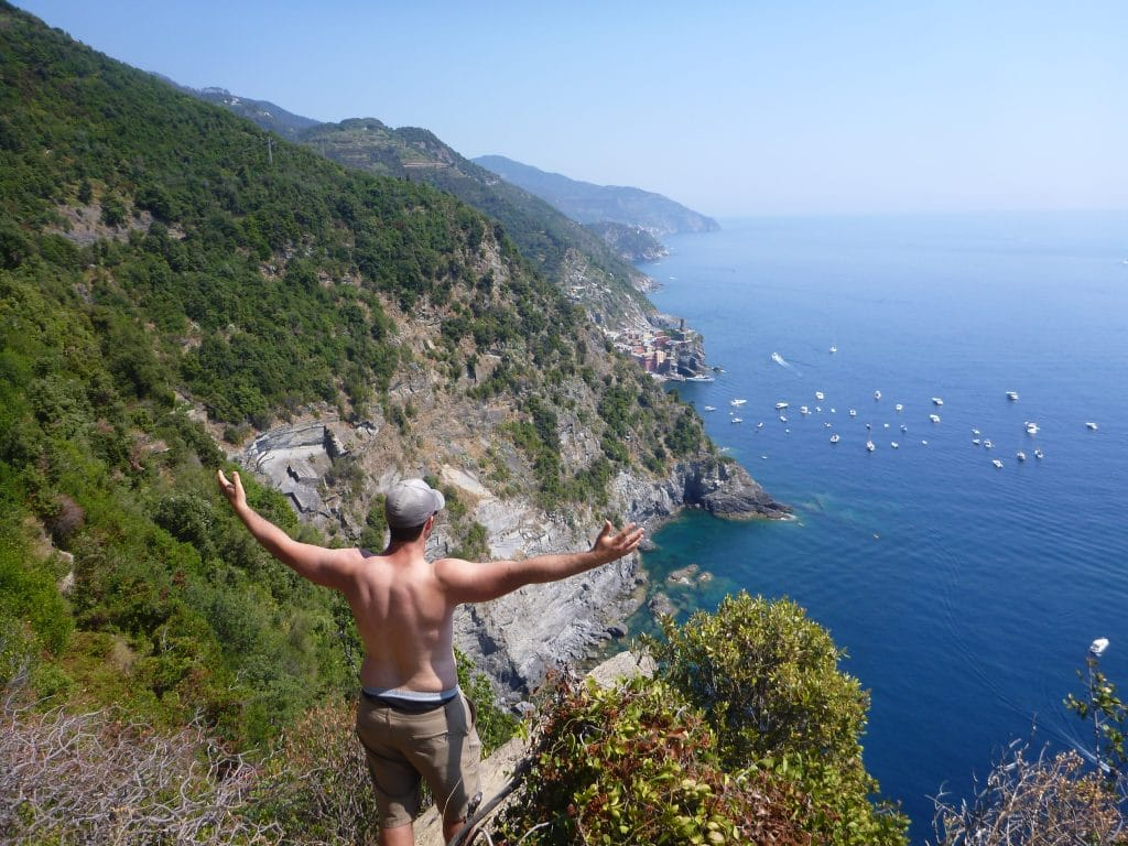 hiking with a view in Cinque Terre